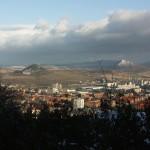 Výhled na město Most, od vodárny